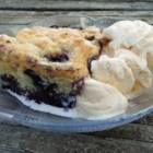 Yummy Blueberry Cobbler - Easy delicious cobbler made with blueberries. Serve with vanilla ice cream for a terrific summer dessert.