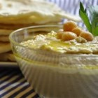 Tofu Hummus - Garbanzo beans pureed with tofu, peanut butter, lemon and garlic.