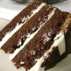 Perfect St. Patrick's Day Cake - The robust taste of Irish stout beer enhances the chocolate flavor of this layer cake. An Irish cream liqueur-flavored frosting and drizzle of bittersweet chocolate over all complete this perfect St. Patrick's Day dessert.