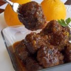 Spicy Orange Bison Balls - This recipe is inspired by the retro classic cocktail meatballs in grape jelly. I took that idea, along with my love of spicy orange beef, and came up with this combination.