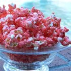 Cinnamon Heart Popcorn - Pink cinnamon-flavored popcorn is made with the little hot cinnamon heart candies.