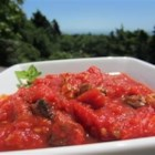 All-Purpose Marinara Sauce - I use this recipe for marinara sauce as a base for all my pasta dishes. You can use the sauce 'as is' for a meatless spaghetti sauce. Or you can add just about any meat or seafood to add variety to your meals. In addition, you can add kidney beans and your favorite ingredients to make a super chili. My kids eat this pasta sauce like no other. They are happy campers when the house is filled with the aroma as this sauce is cooking.