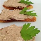 Dottie's Pate - Smooth and tasty chicken liver pate made with butter, onion, and just a little cognac makes a perfect spread for bagel crisps, rye toast, or crackers.