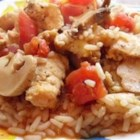 Chicken Surprise - It should surprise no one that this chicken and rice casserole with tomatoes and mushrooms tastes great!
