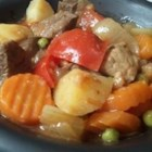 Anna's Amazing Goulash - I made this up one day. It takes a lot of work, but makes a lot of stew, and the leftovers just taste better and better each time you try it.