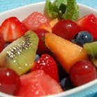 Mojito Fruit Salad - This uniquely refreshing minty salad has the refreshing flavors of mojitos and fresh fruit.