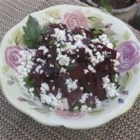 Roasted Beets with Feta - This colorful and elegant side dish is so easy to make. I love making this with beets and shallots straight from our local farmers' market. Green onions or chives may be substituted for the shallot if you prefer.
