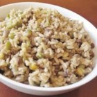 Whole Rice and Lentils (Majadara) - Brown rice and lentils are flavored with caramelized onions and spices for a delicious side dish or vegetarian meal.