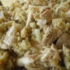 Eva Claiborne's Hen and Dressing - Plenty of chicken and dressing make this dish a great accompaniment for a holiday meal, or a wonderful main course any night of the week!
