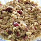 Balsamic Brown Rice Salad - Easy to make, this tangy brown rice and cranberry salad makes a great party side dish.