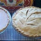 Easy Vodka Pie Crust - This crust with cold vodka and cold water is easier to roll out than normal pie crust, but still gives a flaky crust.