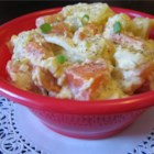 Sweet Potato Potato Salad -  We love sweet potatoes and they are terrific when combined with plain white ones, especially in an old fashioned potato salad. This one has mayonnaise, a bit of mustard, celery, hard-boiled eggs, and a smidgen of chopped onion.