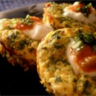 Mini Frittatas - These are made in muffin tins and are fun to whip up and to eat. A cumin and lemon-spiced egg mixture is stirred into spinach, ricotta, parmesan and cheddar cheese. Then this delicious batter is poured into the waiting pan and baked.