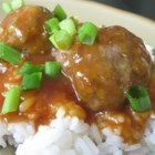 Hazel's Meatballs - Meatballs bake in a tangy ketchup sauce in this simple dish.
