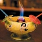 Scorpion Bowl - This punch-like cocktail is made from a trio of juices--orange, lemon, and pineapple--and spiked with gin, light and dark rum, and vodka. Watch out, or it'll sting you!