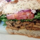 Tempeh Sandwiches - Pita bread stuffed with sauteed onion, green pepper, tempeh, and Swiss cheese.  This is an excellent way to eat tempeh!