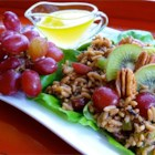 Nutty Wild Rice Salad with Kiwifruit and Red Grapes - Spectacularly different! Originally submitted to ThanksgivingRecipe.com.