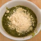 Swampy Green Soup - A layer of mozzarella cheese makes this green vegetable soup a gooey hit with the kids.