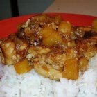 Pineapple Chicken - Chicken that is both savory and sweet, with dried onion soup and pineapple and fresh oranges.
