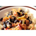 Black Beans with Bacon - A traditional Brazilian dish! Black beans and sauteed vegetables are cooked with bacon in the slow cooker.