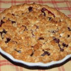 Cherry Pie with Almond Crumb Topping - This delicious and super easy cherry pie features a crunchy, streusel-like topping.