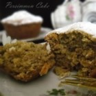 Persimmon Brunch Cake - Spiced persimmon pulp and walnuts make this coffee cake a special fall and winter treat.