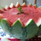 Watermelon Soup - What could be better on a hot summer day than a cool soup made with fresh watermelon and mint?