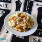 Quick Italian Pasta Salad - A quick and flavorful pasta salad with salami and bell peppers.