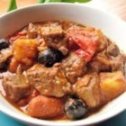 Caldereta (Filipino Beef Stew) - A favorite hearty stew from the Philippines is traditionally made of goat meat, but this sweet and savory version has beef stew meat instead.