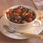 Lamb and Winter Vegetable Stew - Lamb meat and winter vegetables combine to make a thick, hearty stew.