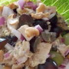 Chicken, Grape, and Rice Salad - A light and easy salad with wild rice mix, chicken, grapes, and cashews makes a nice lunch or a light supper when it's hot outside. Bring it to a potluck or picnic.
