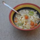Regular Chicken Soup - A simple, hearty chicken soup with noodles. It's perfect for a chilly winter afternoon.