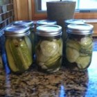 Pop's Dill Pickles - The addition of fresh cloves of garlic to the canning jars make these crunchy dill pickles extra tasty.