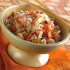 Carroty Rice - Plain rice made special with shredded carrots and chicken bouillon.  Use beef bouillon if you prefer.  Or, add sunflower seeds for a nutty crunch.