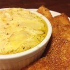 Artichoke Dip II - A warm dip with Parmesan cheese, artichoke hearts and spicy green chile peppers. It's great when garnished with chopped green onions and tomatoes. Serve it with tortilla chips or pita slices. Omit the green chiles, if desired. Delicious cold, too!