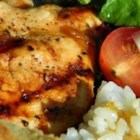 Grilled Chicken with Peach Sauce - Simply grilled chicken breasts get a sweet boost in flavor with a glaze made of peach preserves, garlic, soy sauce, and a scoop of Dijon mustard. Sweet and ripe grilled peaches make a terrific side dish.