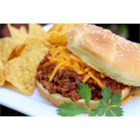 2-Step Beefy Taco Joes - Ground beef is cooked in the skillet and seasoned with a bold combination of Campbell's(R) Condensed Tomato Soup and Pace(R) Thick & Chunky Salsa, served on a sandwich bun and crowned with shredded Cheddar cheese.