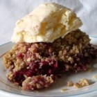 My Plum Crisp - An easy oat-topped plum crisp is made with ingredients found in most kitchens.