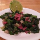 Swiss Chard Sauteed with Lime - This quick and delicious Swiss chard recipe can be served as a side dish or as a meal over rice.