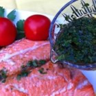 Asian Lime and Cilantro Sauce For Salmon - This Asian-inspired sauce is perfect for topping your favorite baked, fried, or grilled fish.
