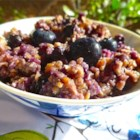 Peanut Butter Oatmeal - Make a big bowl of oats, blueberries, and peanut butter with this recipe.