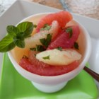 Drunken Grapefruit Salad - Give your grapefruit salad a boost with a splash of gin and a sprinkling of fresh mint.