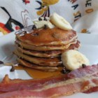 Elvis Pancakes - Pancakes flavored with peanut butter, banana, and chocolate chips make a breakfast fit for The King.