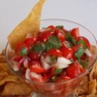 Scott's Pico de Gallo - Tomatoes, cilantro, onion, and fresh lime juice blend in this quick and easy version of pico de gallo.