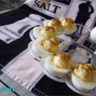 Creamy Cajun Deviled Eggs - Creamy deviled eggs have a hint of spice thanks to hot sauce and a sprinkle of Cajun seasoning for garnish.