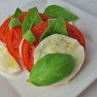 Insalata Caprese II - Because this salad is so simple, fresh, top-quality tomatoes and mozzarella are important.