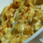 Southern Macaroni and Cheese - Elbow macaroni is baked with cottage cheese, sour cream, eggs and sharp Cheddar cheese for a rich and flavorful version of this favorite side dish.