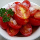 Summertime Tomato Salad - This excellent and cool summer snack or side dish is very easy to make and takes very little time.