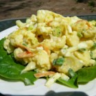 Cauliflower and Egg Salad - This cauliflower salad combines hard-boiled eggs, shaved carrots, and green onions with a creamy dressing for a side dish for any occasion.