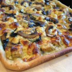 Chicken and Gorgonzola Pizza - This flavorful pizza is sure to be a big hit with your family!